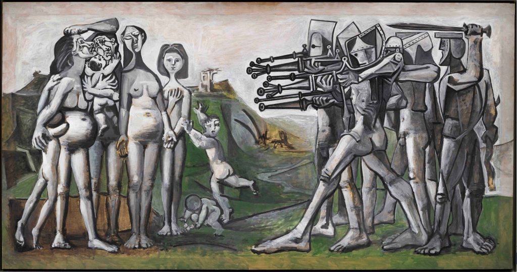 Pablo Picasso painting of a Massacre in Korea, 1951.